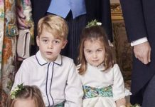 Comparing Prince George and Princess Charlotte in Princess Eugenie and Prince Harry and Meghan Markles Wedding Portraits Photo C GETTY IMAGES