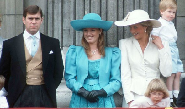 Fergie and Diana with Prince Andrew in Image Getty