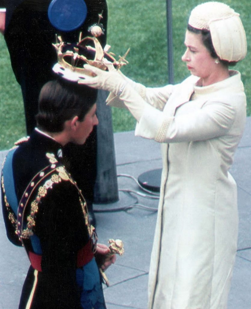 Game of wiff waff Prince Charles receives the crown from the Queen during his investiture as the Prince of Wales at Caernarvon Castle back in