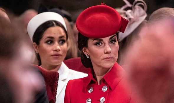 Kate Middleton and Meghan Markle have to use certain phrases a royal expert has claimed Image GETTY