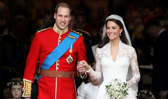 Kate Middleton and Prince William on their wedding day Imag GETTY