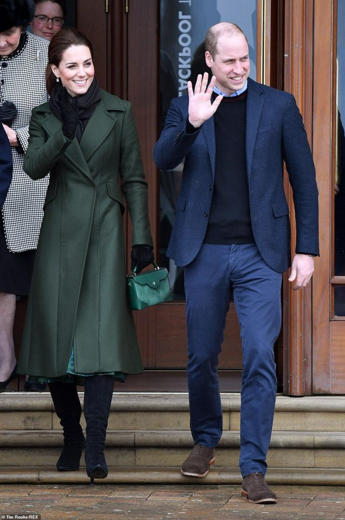 Kate and William were heading to the seaside town on Wednesday where they spent the day visiting a series of innovative projects focused on investment and regeneration
