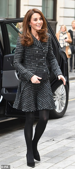 Kate cut a prim and proper figure in Dolce Gabbana as she arrived at the event last month