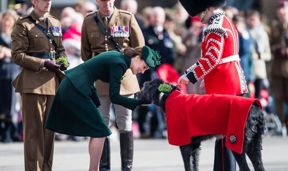 Kate had been in Hounslow to celebrate St Patricks Day Image GETTY