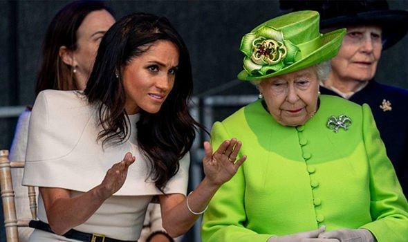 Meghan Markle Duchess of Sussex and Queen Elizabeth II Image GETTY
