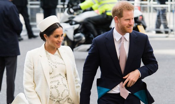 Meghan Markle and Prince Harry celebrate Commonwealth Day last week Image Getty