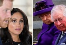Meghan Markle and Prince Harry helped by Prince William against Queen and Prince Charles demands Image GETTY