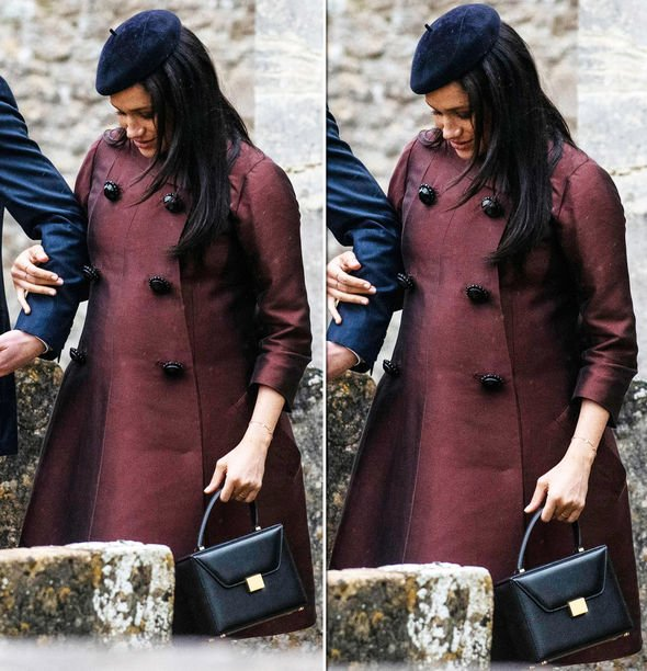 Meghan Markle news Carried the Victoria Beckham 'Vanity Box' leather tote which costs £ Image ANDREW LLOYD