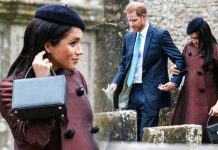 Meghan Markle news Prince Harry's wife at Zara Tindall christening Duchess wore £ bag Image ANDREW LLOYD