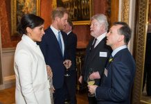 Meghan and Harry chatted to guests at Charles th Investiture celebrations Image GETTY