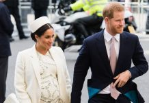Meghan and Harry outside the Commonwealth service in London last week Image GETTY