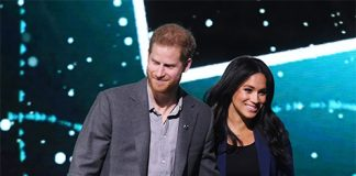 Meghan appeared on stage with Prince Harry Photo C GETTY IMAGES