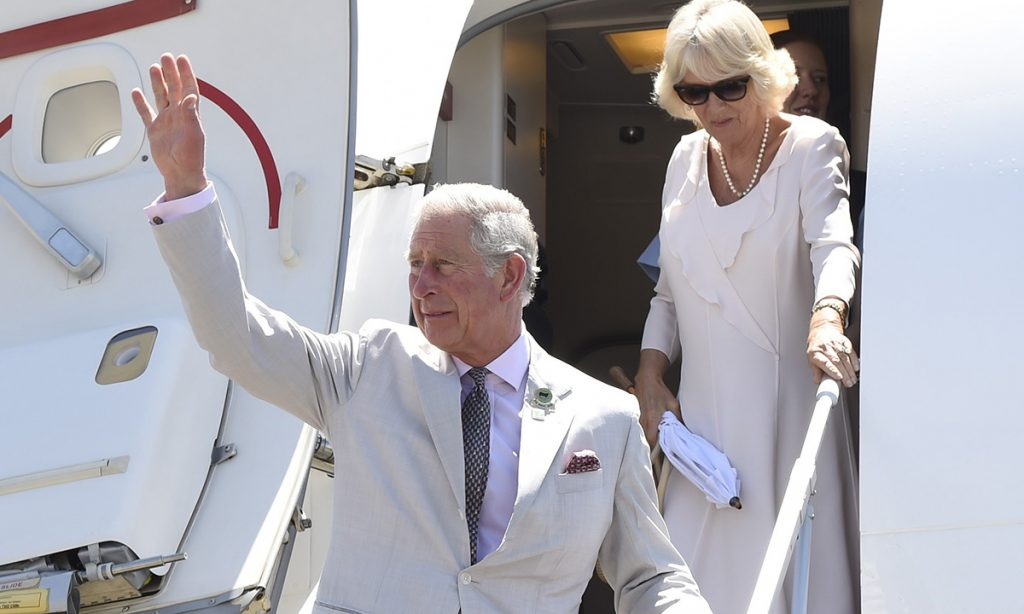 Prince Charles and Camilla arrive back in the UK ahead of royal babys birth Photo C GETTY IMAGES