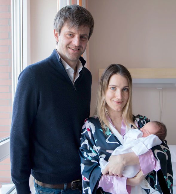 Prince Ernst Augus and Princess Ekaterina of Hanover with their first daughter Elisabeth Photo C GETTY IMAGES