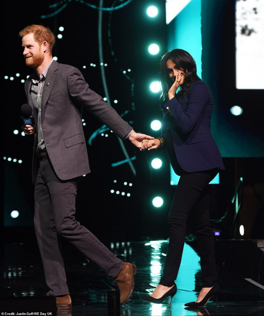 Prince Harry and Meghan Duchess of Sussex seen cosying up together at Wembley arena yesterday are known for their affectionate displays