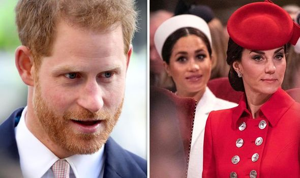 Prince Harry made a surprise comment about Meghan Markle and Kate Middleton's relationship Image GETTY
