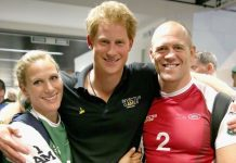 Prince Harry pictured with Zara and Mike Tindall who he introduced to each other Image GETTY