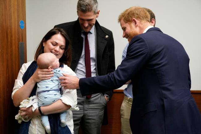 Prince Harry practiced his parenting skills with adorable baby boy James photo c getty images