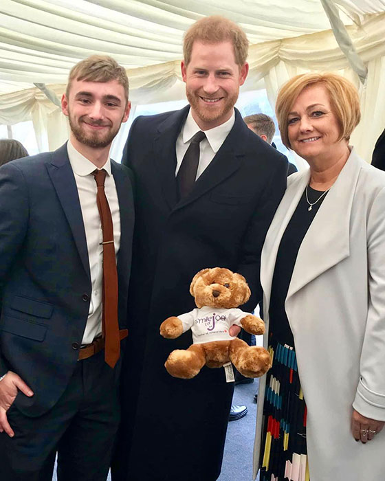 Prince Harry received the adorable bear photo C getty images