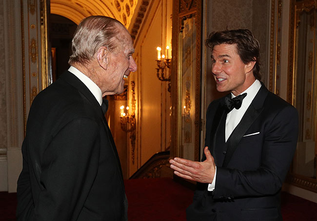 Prince Philip met Tom Cruise during a dinner to mark the th anniversary of the Outward Bound Trust Photo C GETTY IMAGES