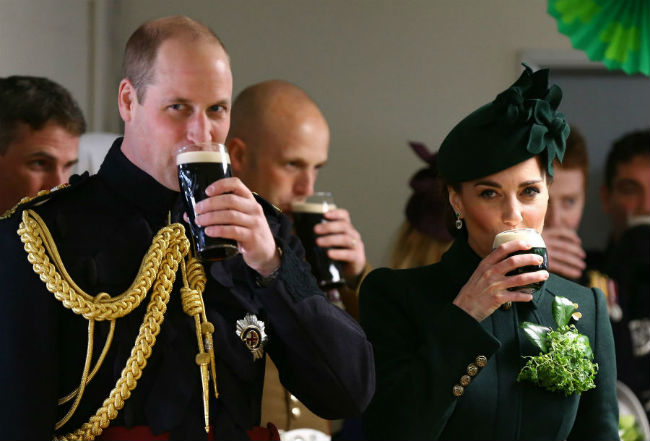 Prince William and Kate sipped Guinness on Sundays St Patricks Day parade Photo C GETTY IMAGES