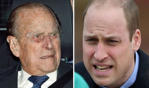 Prince William turned to Prince Philip and asked him for his advice and Image GETTY
