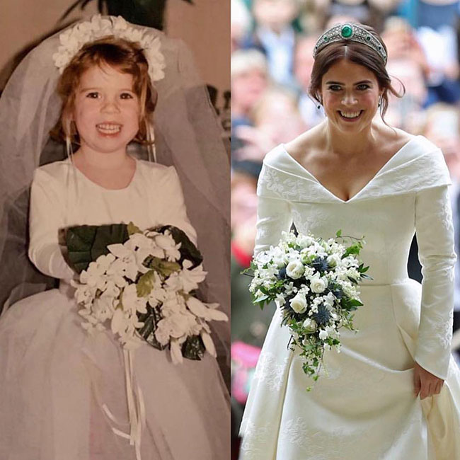 Princess Eugenie shares never before seen picture of her in a wedding dress Photo C INSTAGRAM