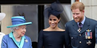 Queen Elizabeth Prince Harry and Meghan Markle Photo C GETTY IMAGES