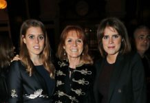 Sarah with daughters Princess Beatrice and Princess Eugenie getty