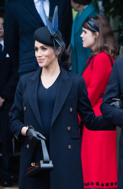 See how Meghan Markles baby bump has grown since her pregnancy announcement last October photo C getty images