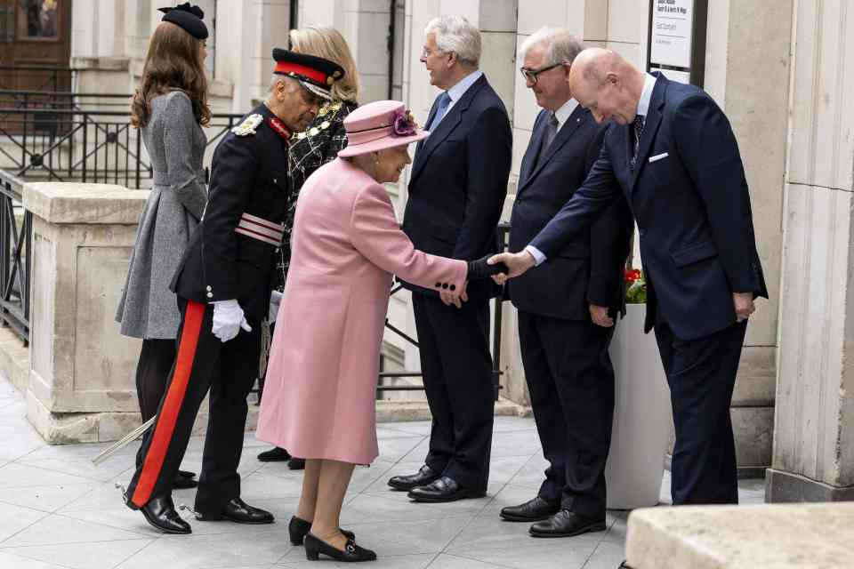 Sir Christopher right has previously served as the Queens private secretary Photo C AFP