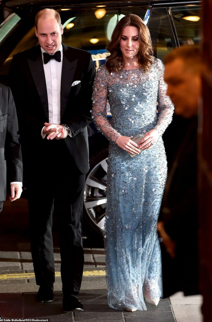 The Cambridges at the Royal Variety Performance in November before Harry and Meghan went public with their romance