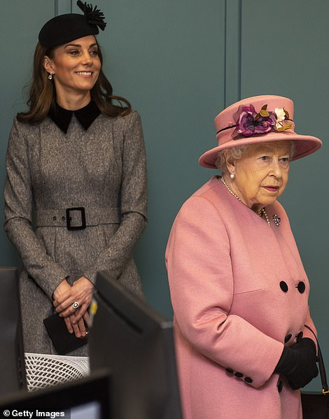 The Duchess and the Queen both donned hats for the occasion