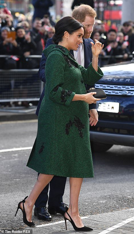 The Duchess appears in good spirits as she arrives at Trafalgar Square Los Angeles native Meghan lived in Canada described as her second home