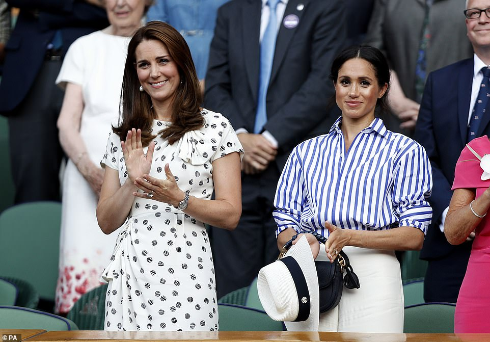 The Duchess of Cambridge and the Duchess of Sussex went to watch the tennis in Wimbledon last July It was the first time Kate and Meghan were seen together without William and Harry