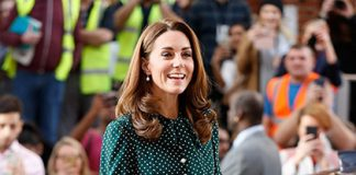 The Duchess of Cambridge in a stunning L K Bennett dress PHOTO c GETTY IMAGE