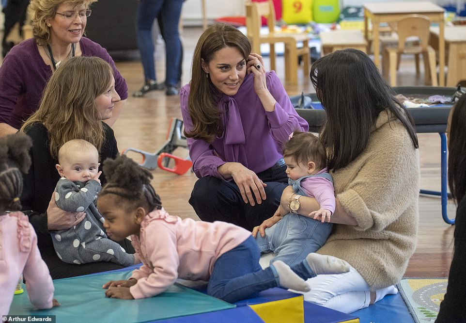 The Duchess of Cambridge spoke to mothers to learn more about how the centre is helping them as parents