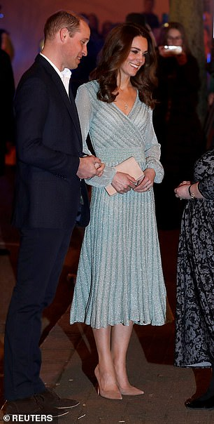 The Duchess of Cambridge wore a Missoni gown as she attended a party celebrating young people who were making a difference in Northern Ireland on February