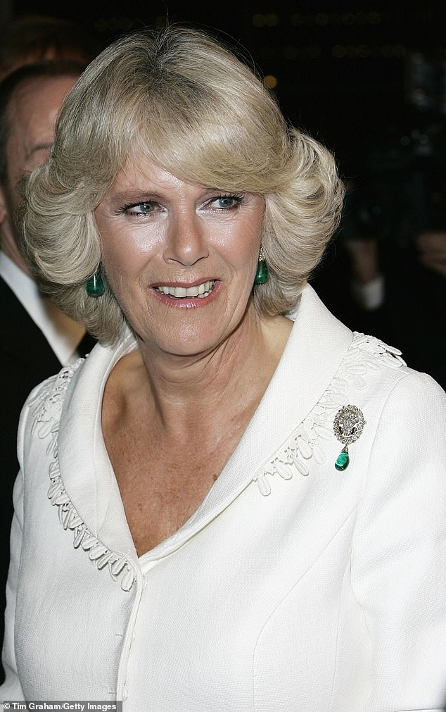 The Duchess of Cornwall first wore the diamond and emerald pendant at the film premiere of The History Boys at the Odeon cinema in London October