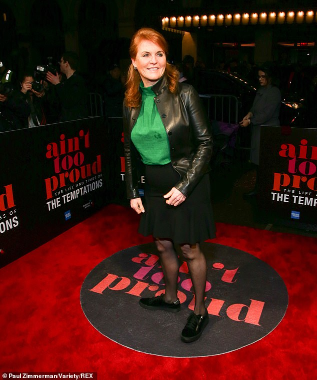 The Duchess of York looked in great spirits as she enjoyed a night at the theatre Posing up a storm for the cameras Fergie seemed to be in her element
