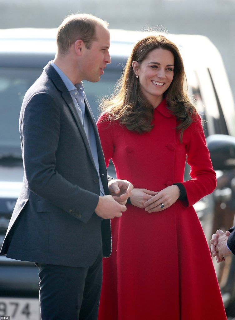 The Duke and Duchess of Cambridge are traditionally known for being reserved during public engagements seen in Belfast last month