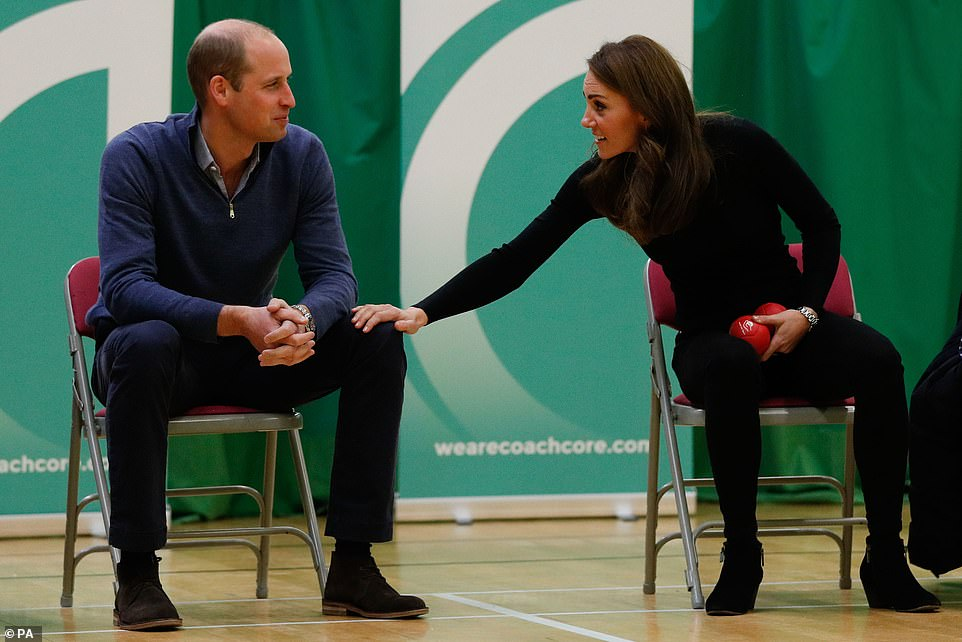 The Duke and Duchess of Cambridge at Coach Core Basildonin October Body language expert Judi James says Kate not only pats or clasps her husbands thigh here