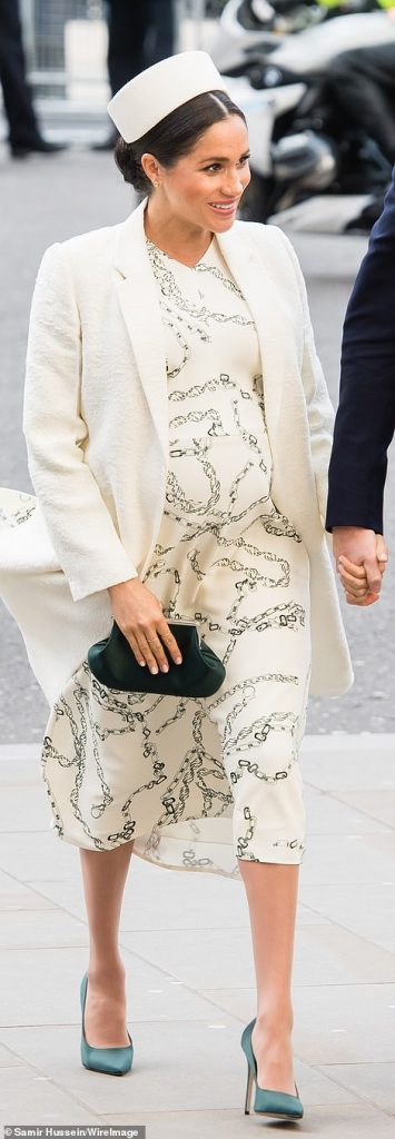 The Duke and Duchess of Sussex sweetly held hands as they made their way to the service