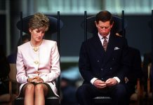 The Prince and Princess of Wales attend a welcome ceremony in Toronto at the beginning of their Canadian tour October