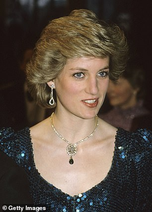 The Princess of Wales famously wore the heirloom emerald brooch during a state visit to Vienna Austria in