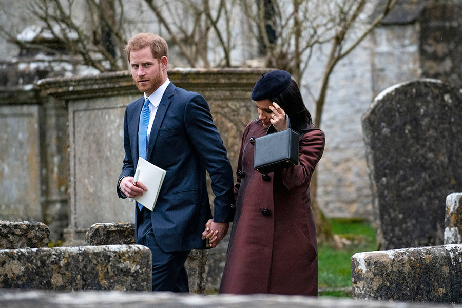 The Queen Meghan Markle and Zara Tindall unite at baby Lenas christening Photo C Andrew Lloyd