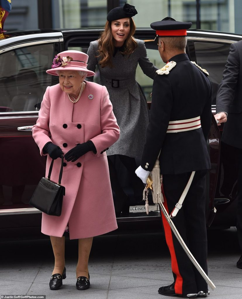 The Queen and the Duchess of Cambridge have arrived at Kings College London for a joint engagement