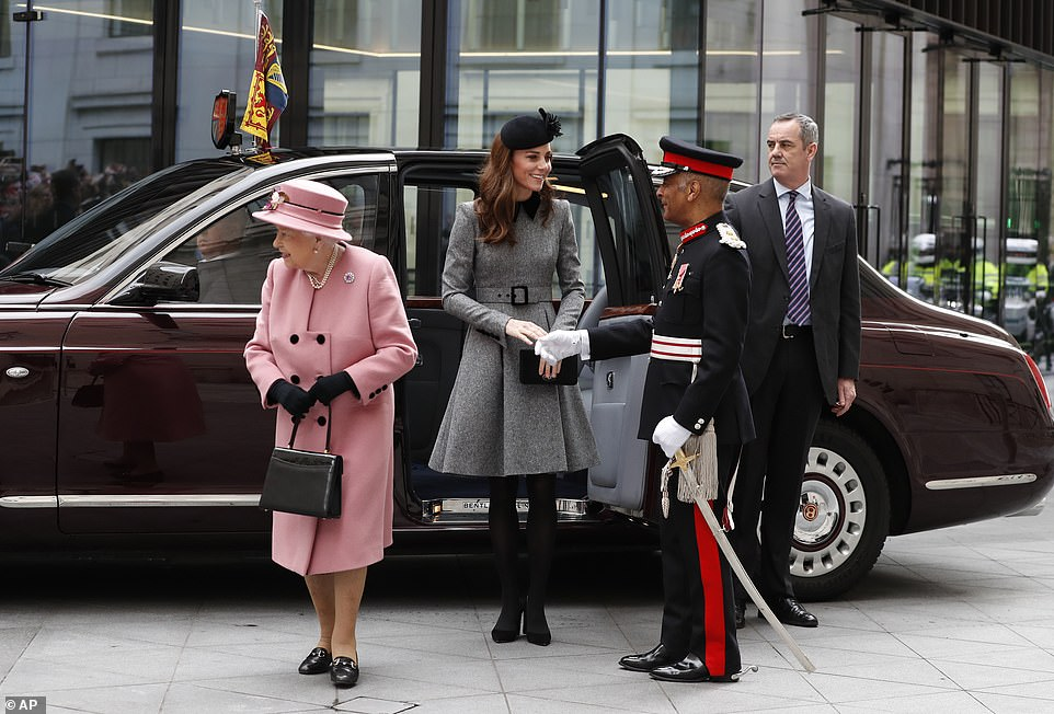 The Queen and the Duchess of Cambridge were given a warm welcome as they arrived at Kings College London today