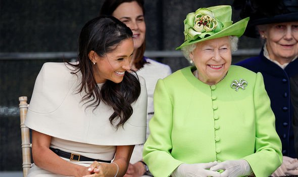 The Queen sees Meghan as a much loved grand daughter Image GETTY