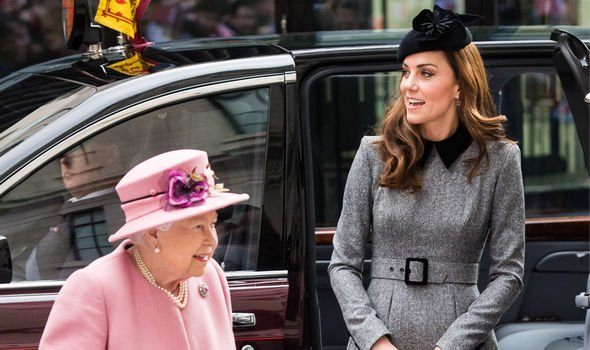 The Queen visited Kings College London today with the Duchess of Cambridge Image Getty